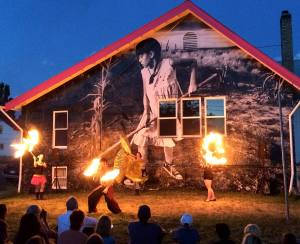 friday the 13th fire dancers - nelly higginbotham