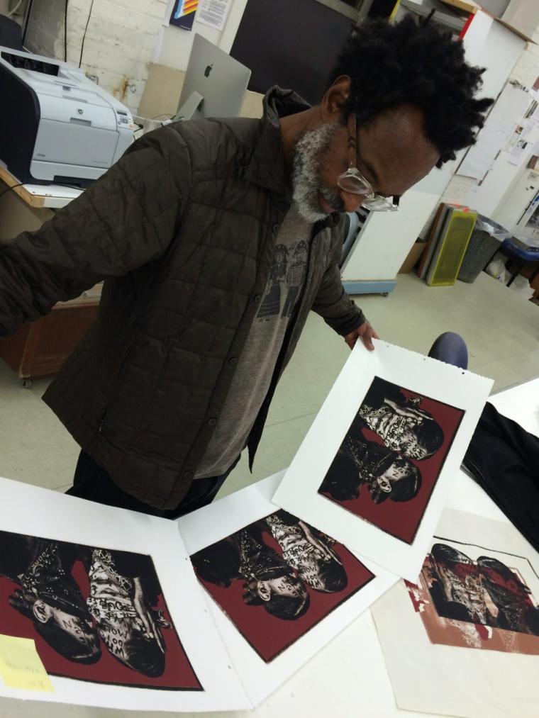 reviewing screen prints
