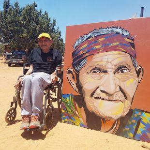 buck navajo with portrait